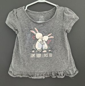 Some bunny loves you grey t-shirt